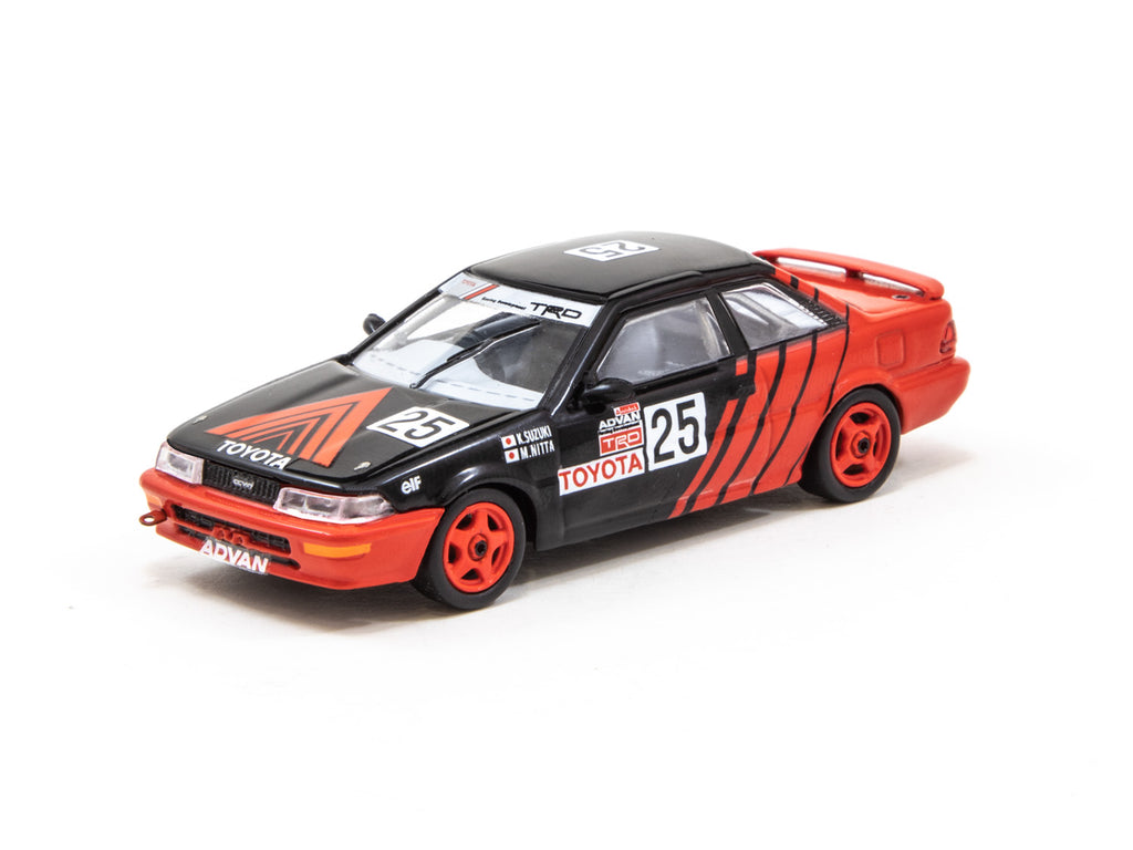 Tarmac Works 1/64 Toyota Corolla Levin AE92 JTCC 1990 #25 Division 3 Champion - HOBBY64
