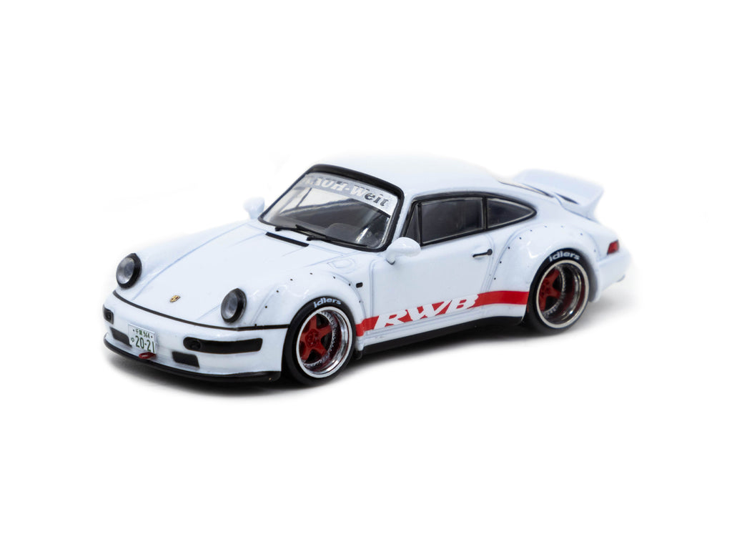 Tarmac Works 1/64 RWB 964 White with Red stripe - Tokyo Auto Salon 2021 Special Edition - HOBBY64