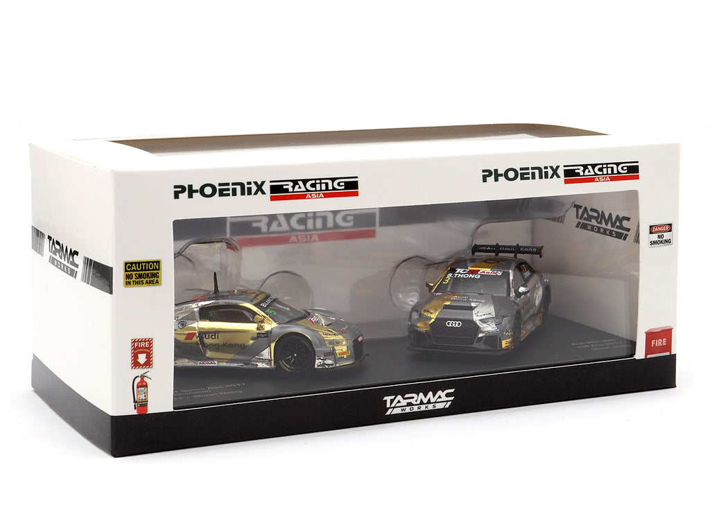 Tarmac Works 1/64 Phoenix Racing Asia Audi R8 LMS & Audi RS3 LMS - Hong Kong Exclusive Model