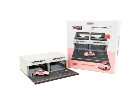 Tarmac Works 1/64 Accessories Pit Garage Diorama - RWB - PARTS64
