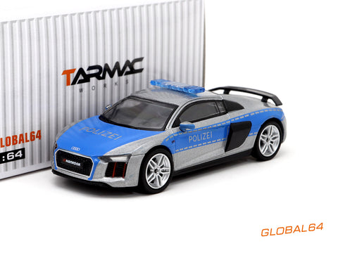 Tarmac Works 1/64 Audi R8 V10 Plus - German Polizei - GLOBAL64