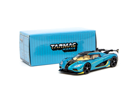 Tarmac Works 1/64 Koenigsegg Agera RS Torquise / Carbon Accent - GLOBAL64