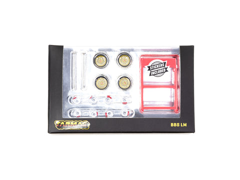 Tarmac Works 1/64 Accessories BBS LM F1 Championship Edition Gold - PARTS64