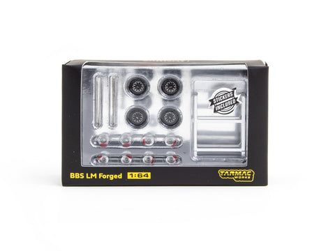 Tarmac Works 1/64 Accessories BBS LM Forged Diamond Black - PARTS64