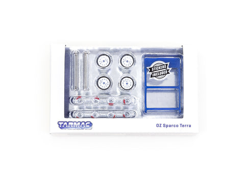 Tarmac Works 1/64 Accessories OZ Sparco Terra White - PARTS64