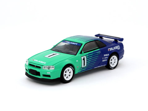 Greenlight x Tarmac Works 1/64 Nissan Skyline GT-R R34 FALKEN