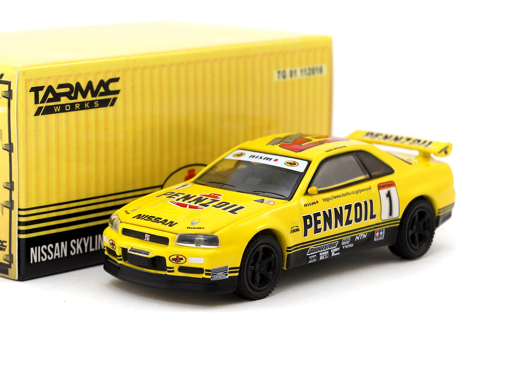 Tarmac Works x Greenlight 1/64 Nissan Skyline GT-R R34 Pennzoil