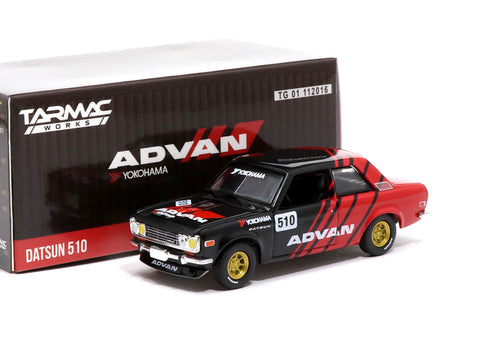 Greenlight x Tarmac Works 1/64 Datsun 510 ADVAN