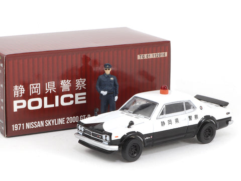 Greenlight x Tarmac Works 1/64 Nissan Skyline 2000 GT-R Japan Police