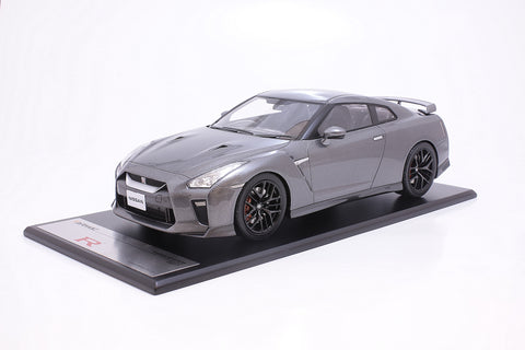 Tarmac Works 1/18 Nissan GT-R MY2017 - Dark Metal Gray - T11-MG