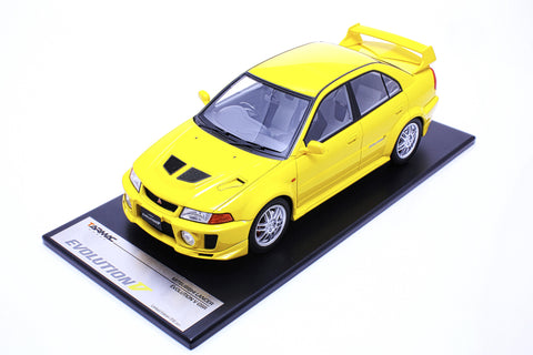 Tarmac Works 1/18 Mitsubishi Lancer Evolution V - Yellow T03-YL