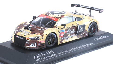 Minichamps x Tarmac Works 1/43 AUDI R8 LMS  - AAPE by A Bathing Ape - Marchy Lee - Audi R8 LMS Cup 2016 Shanghai Round