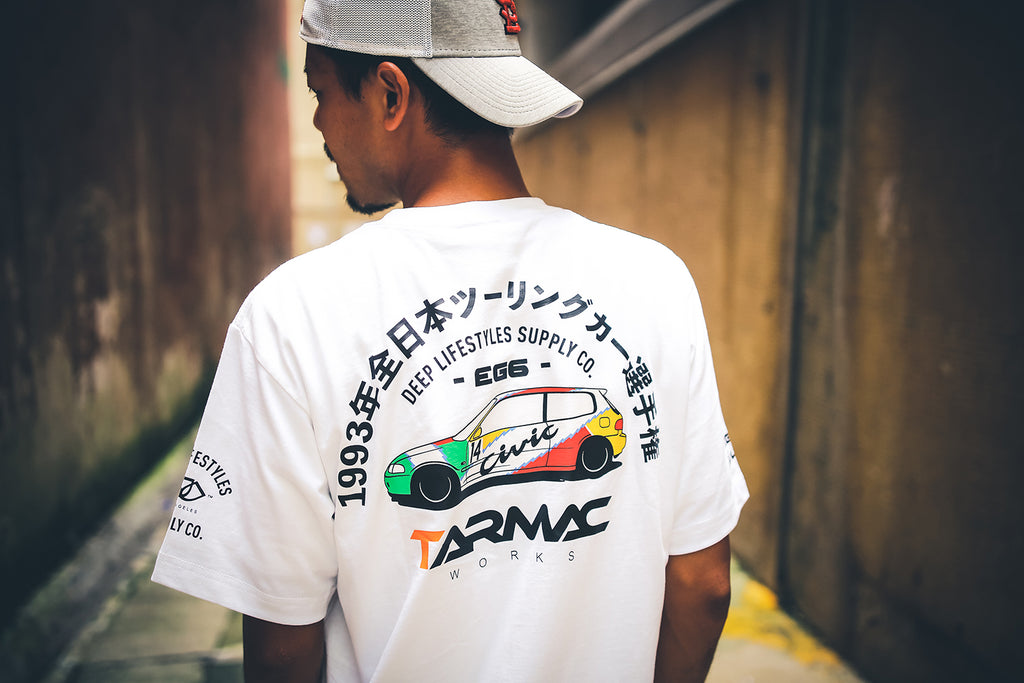 Tarmac Works Civic EG6 Tee - White - By DEEP Lifestyles Supply Co.