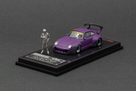 Ignition Model 1/64 RWB 993 Matte Purple with Mr. Nakai