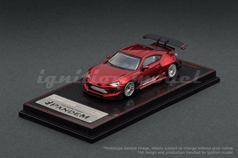 Ignition Model 1/64 PANDEM TOYOTA 86 V3 Red Metallic - Tarmac Works Exclusive Color