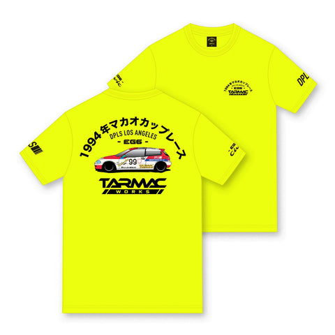 Tarmac Works EG6 Tee - Neon Yellow - By DEEP Lifestyles Supply Co.