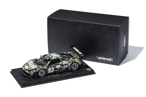 Tarmac Works x A Bathing Ape x BBR Models 1/18 BLACK EDITION 2012 Ferrari 458 GT3 Macau GT Cup
