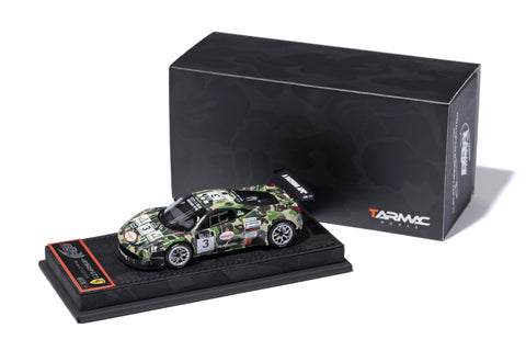 Tarmac Works x A Bathing Ape x BBR Models BLACK EDITION 1/43 2012 Ferrari 458 GT3 Macau GT Cup