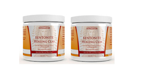 Cosmetics Derigueur Bentonite Healing Clay - 2 Jars