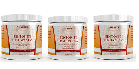 Cosmetics Derigueur Bentonite Healing Clay - 3 jars