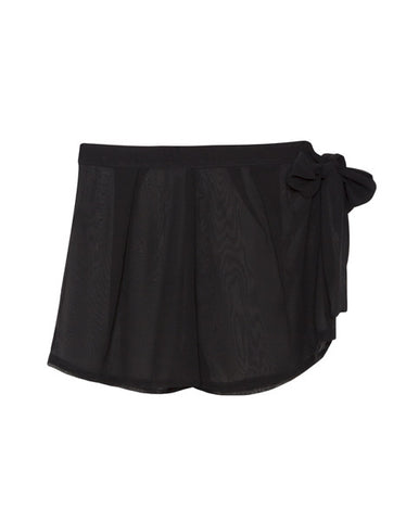 black shorts with side tie