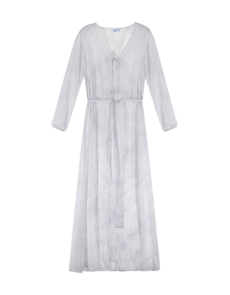 Marble White Beach Gown