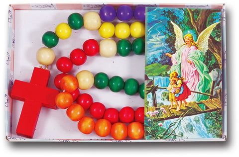 BOXED WOODEN KIDDIE ROSARY