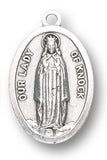 OUR LADY OF KNOCK SILVER OXIDIZED MEDAL