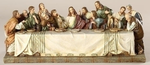 Last Supper Tabletop Statue  11.25""