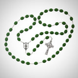 Oval Irish Rosary Boxed