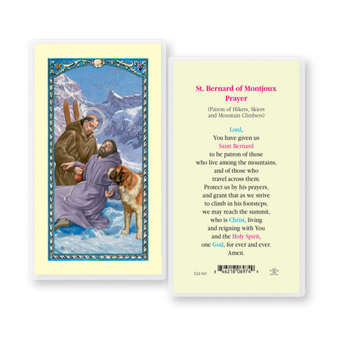 St. Bernard Holy Card