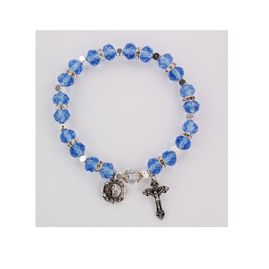 Light Blue Rosary Bracelet