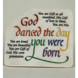 """God Danced"" Plaque"