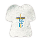 Baptismal Garment with Cross and Shell Pieces/Pkg: 24