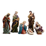 7 Piece Hand Painted Nativity Set