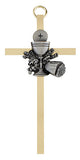"4 1/4"" First Communion Chalice Brass Cross"