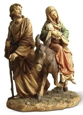 Flight Into Egypt Statue  9""