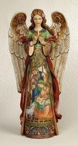 Angel Holding Star Statue 15.75""