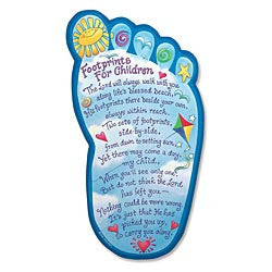 """Footprints for Children"" Plaque"
