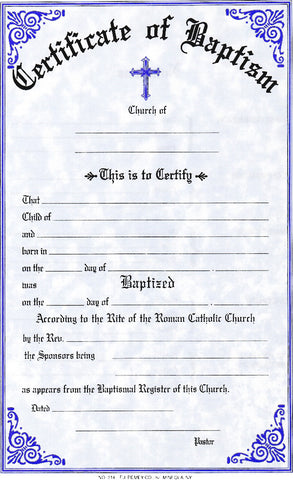 Baptismal Forms Certificate