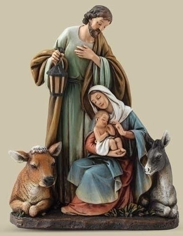 Holy Family With Animals Statue   7.5""