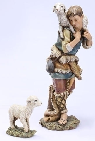 Shepherd And Lamb Figure Set