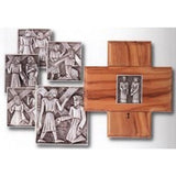 Olivewood and Pewter Stations of the Cross