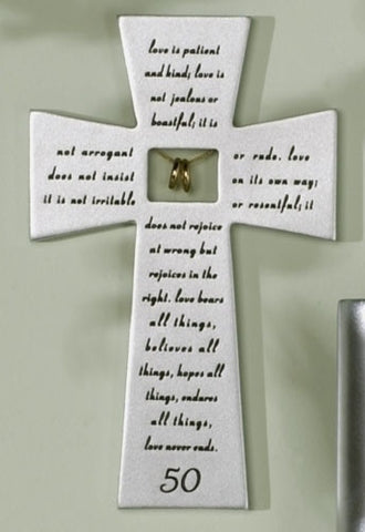 "7"" 50TH ANNIV WALL CROSS"