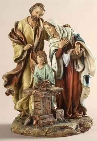 Holy Family In Carpenter Shop Statue  9.5""