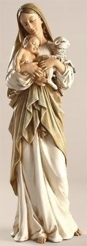 Madonna And Child With Lamb Statue 12""