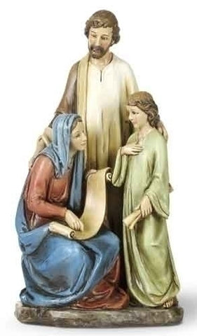 Holy Family Teaching Jesus Statue  10.25""