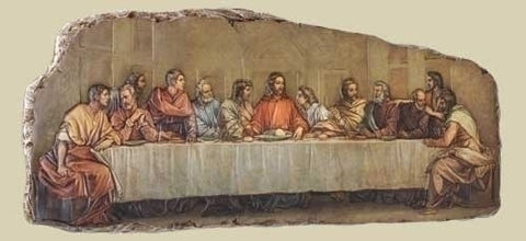 Last Supper Wall Plaque  18.5""