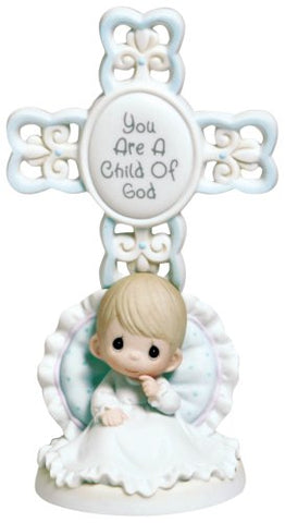 Precious Moments Cross/Figurine-Boy-You Are A Child Of God-Christening