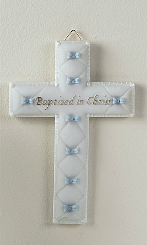 BAPTISM BOY WALL CROSS